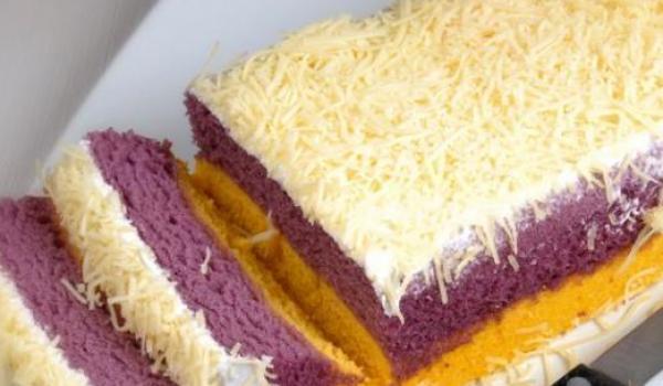 Cara Membuat Kue Lapis Talas Bogor