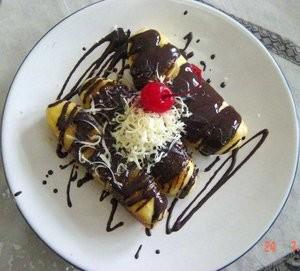 pisang bakar cokelat keju