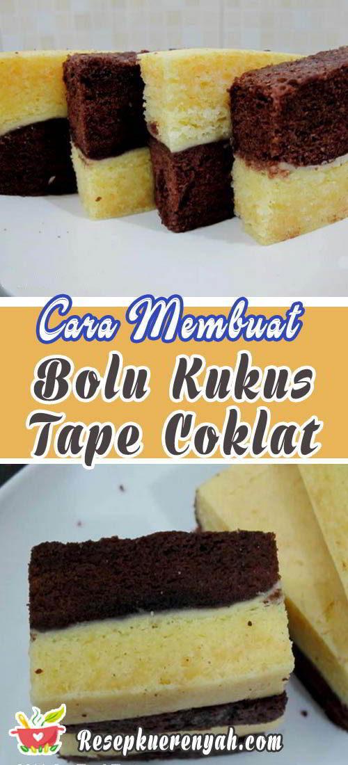 Cara membuat bolu kukus tape coklat