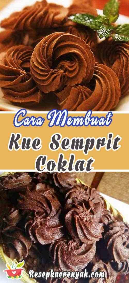 Cara Membuat Kue Semprit Coklat