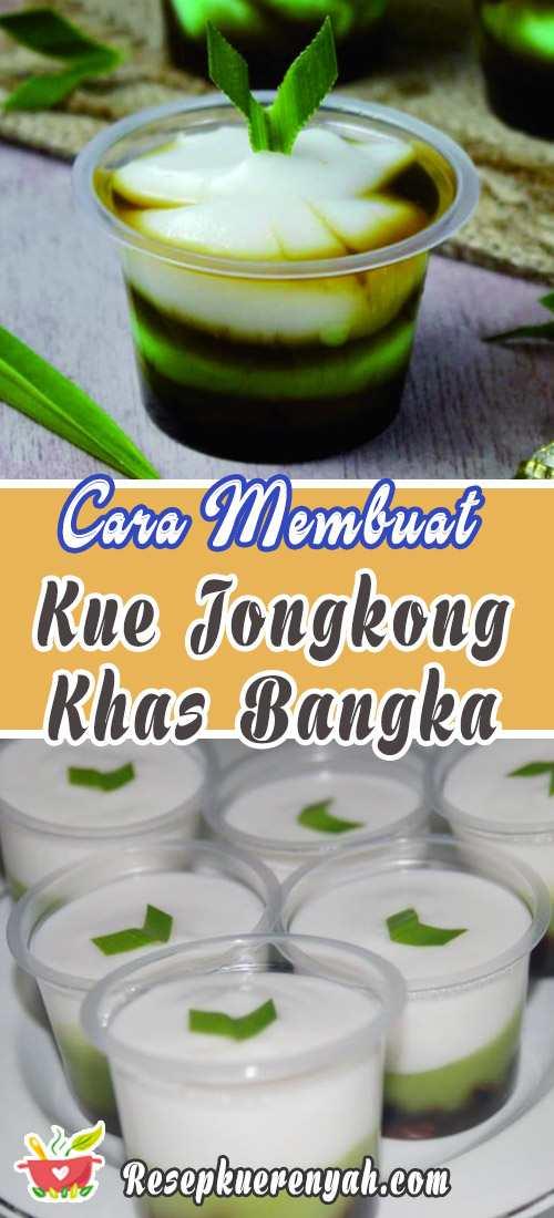 Cara Membuat Kue Jongkong