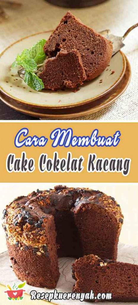 Cara Membuat Cake Cokelat Kacang