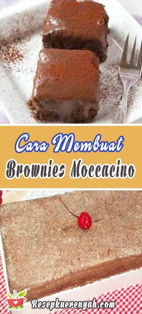 Cara Membuat Brownies Moccacino