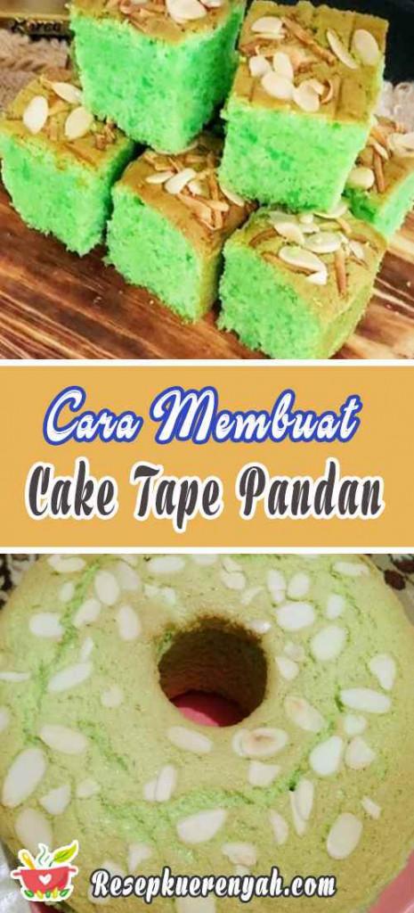 Cara Membuat Cake Tape Pandan Almond