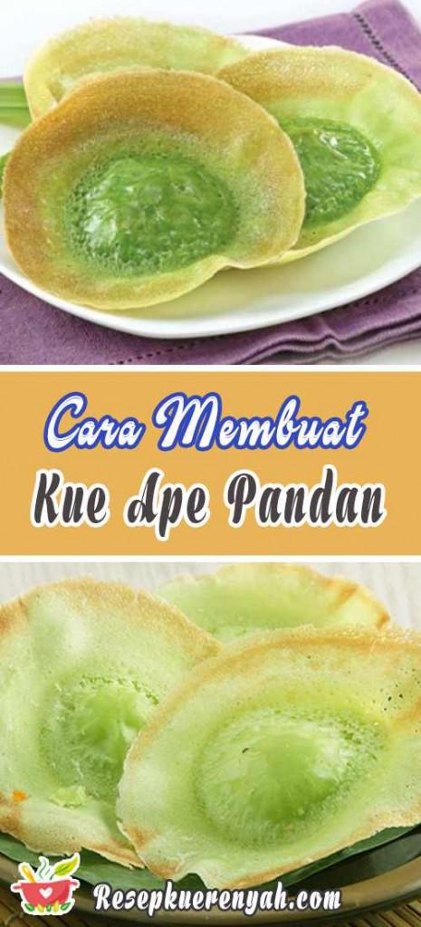 Cara Membuat Kue Ape Pandan