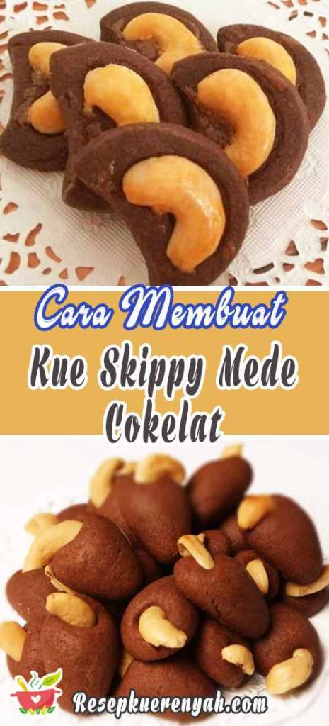 Cara Membuat Kue Skippy Mede Cokelat