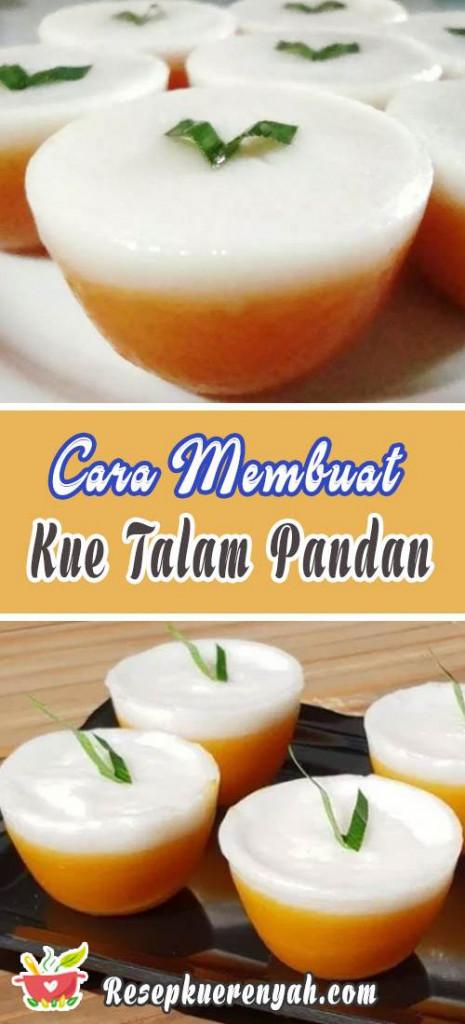 Cara Membuat Kue Talam Pandan