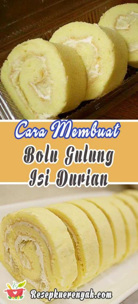 Cara Membuat Abolu Gulung Isi Durian