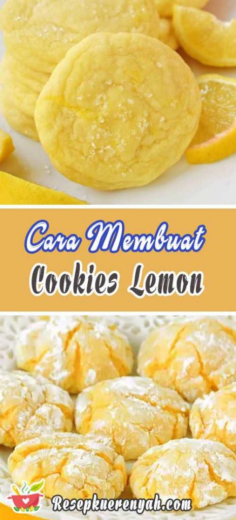 Cara Membuat Cookies Lemon
