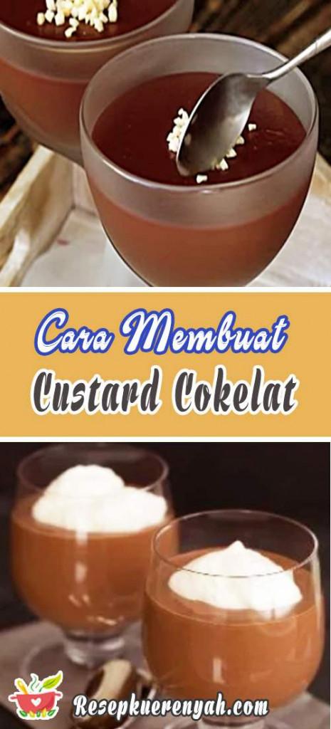 Cara Membuat Custard Cokelat