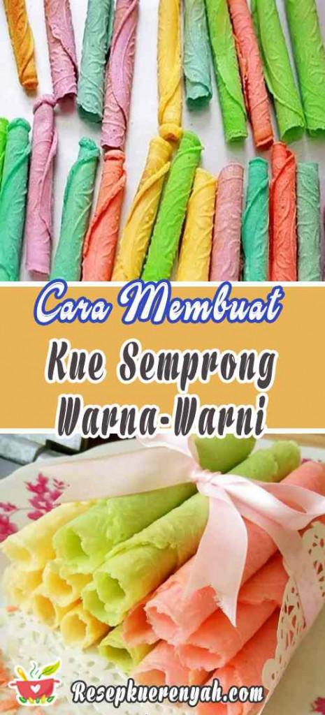 Cara Membuat Kue Semprong Aneka Warna