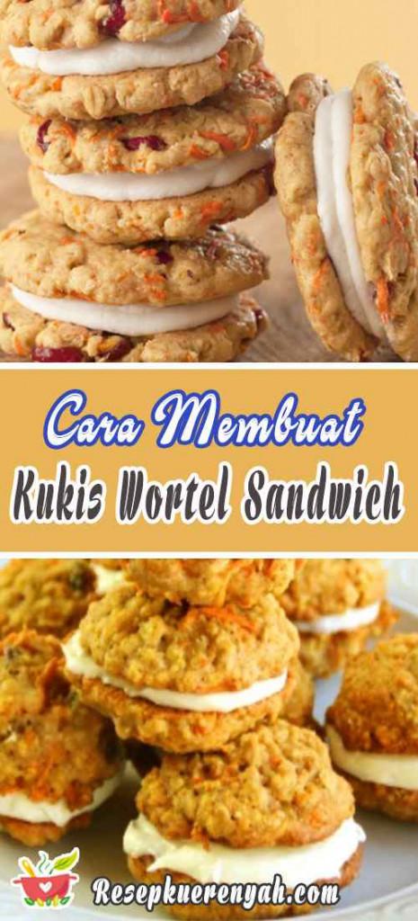Cara Membuat Kukis Wortel Sandwich