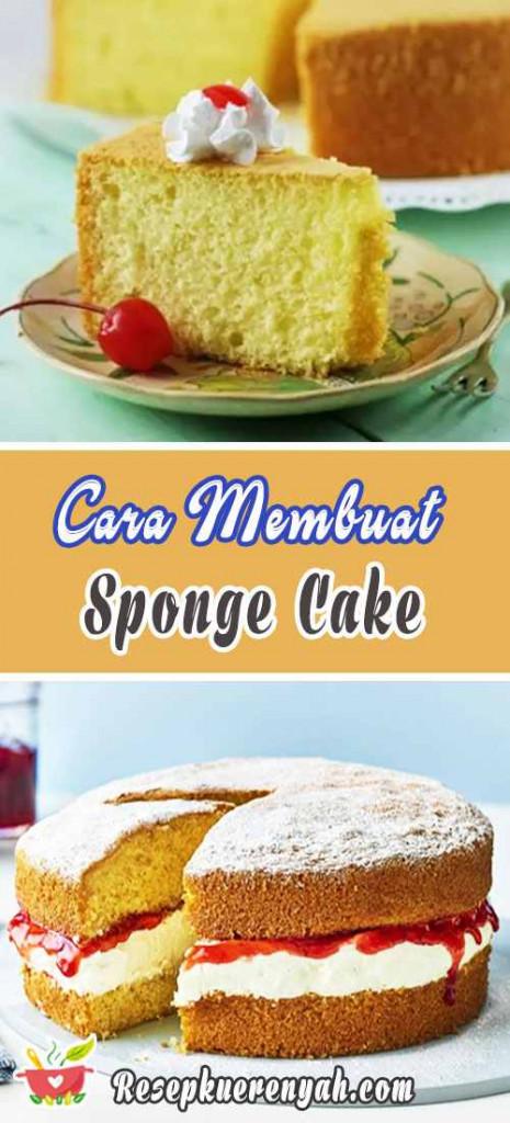 Cara Membuat Sponge Cake