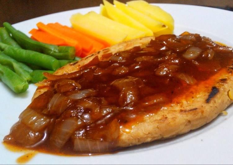 Steak Tempe Saus Teriyaki - Resep Steak Tempe
